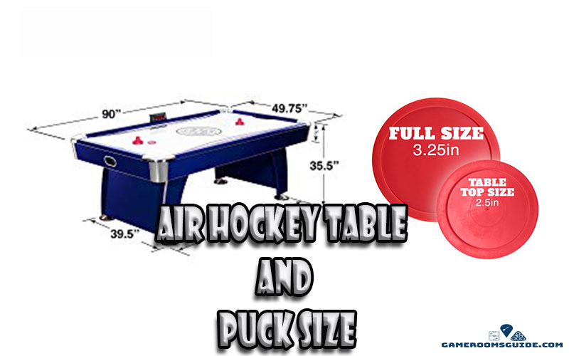 Air Hockey Table and Puck Size