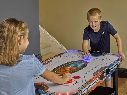 tabletop air hockey table for kids