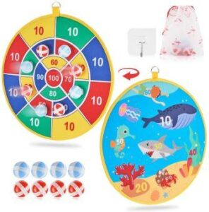 Dart Board Game for Kids with 8 Sticky Balls